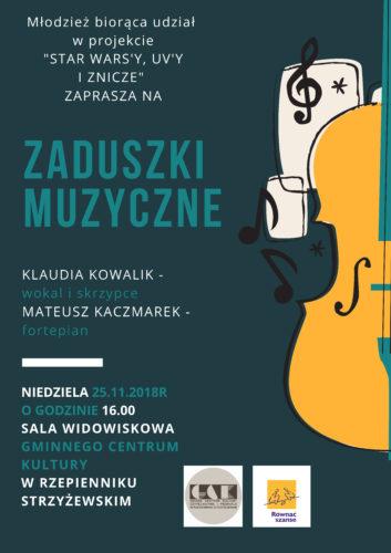 """Plakat promujący koncert """"Zaduszki Muzyczne"""""""