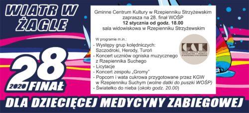 Plakat promujący 28 finał WOŚP