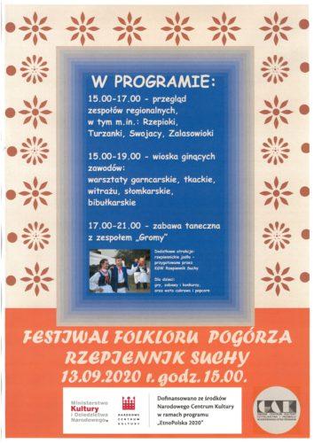 Plakat Festiwalu Folkloru Pogórza